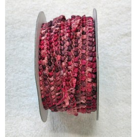 Passamaneria h 1 cm rosa antico multicolor