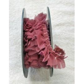 Passamaneria h 2 cm rosa antico plissettata