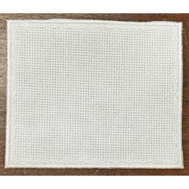 Quadrato 1 in Tela Aida - col. Bianco