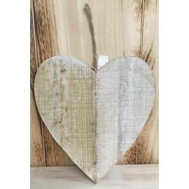 Base in legno a forma di cuore piatto - col. Legno naturale