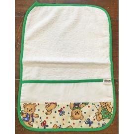Asciugamano asilo - col. Verde con orsacchiotti