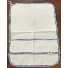 Asciugamano asilo col. Blu quadrettato
