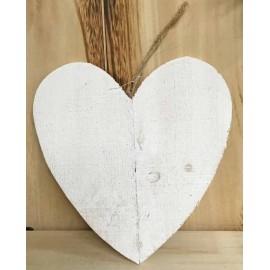 Base di legno a forma di cuore piatto - col. Bianco