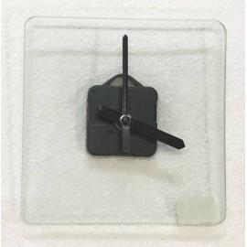 Base in vetro a forma di orologio quadrato - cm 16x16