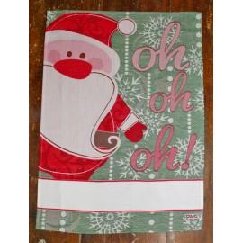 Strofinaccio Babbo Natale col. Salvia e Rosso