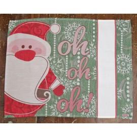 Tovaglietta americana Babbo Natale - col. Verde e Rosso