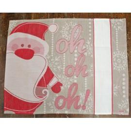 Tovaglietta americana Babbo Natale - col. Verde salvia e Rosso
