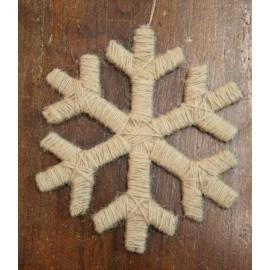 Fuoriporta fiocco di neve col. Corda