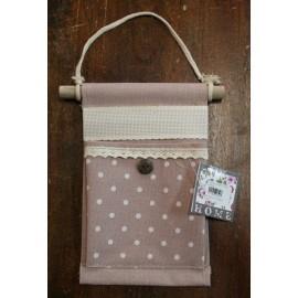 Tasca portaoggetti rosa antico