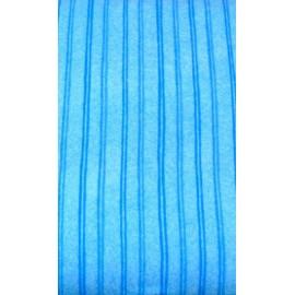 Tessuto flanella col. Azzurro a righe