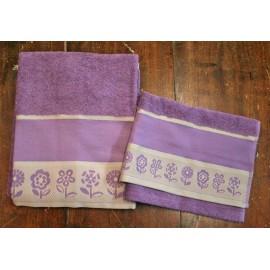 Coppia asciugamani da bagno col. Visone