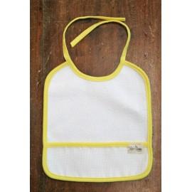 Bavaglino neonato col. Bianco e giallo