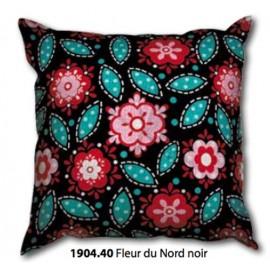 Tea towel Pillow Fleur du Nord, noir art.1904.40/1910.40