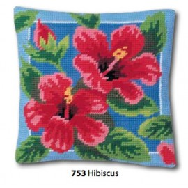 Kit Cuscino canovaccio Hibiscus art. 273.753