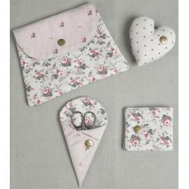 Set porta accessori Little roses