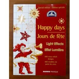 Libro punto croce DMC - happy days