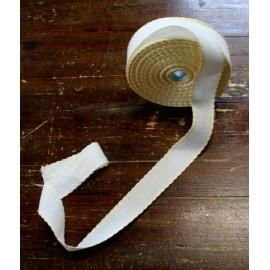 Bordo tela aida 55 fori h 3 cm - Col. Bianco/Giallo chiaro