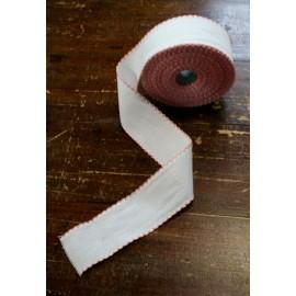Bordo tela aida 55 fori h 5 cm - Col. Bianco/Rosa