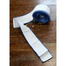 Bordo tela aida 55 fori h 5 cm - Col. Bianco/Blu