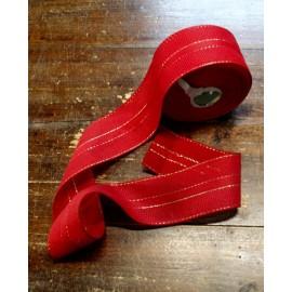 Bordo tela aida 55 fori h 6 cm - Col. Rosso