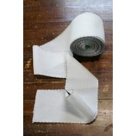 Bordo tela aida 55 fori h 8,5 cm - Col. Bianco/Argento