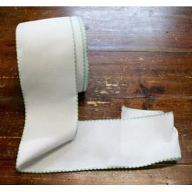 Bordo tela aida 55 fori h 10 cm - Col. Bianco/Verde chiaro