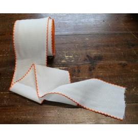 Bordo tela aida 55 fori h 10 cm - Col. Bianco/Arancio