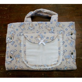 Bag changing mat with. White with bunnies