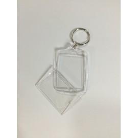 Portachiavi in plexyglass da ricamare ovale
