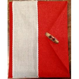 Porta tablet ricamabile col. rosso