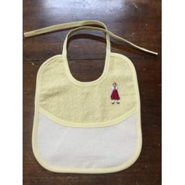Bavaglina neonato gialla