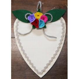 Fuoriporta - cuore con fiori