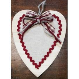 Fuoriporta - cuore con fiocco scozzese bordo