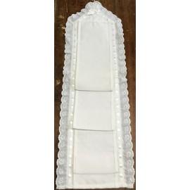 Porta rotoli carta igienica - nastro bianco