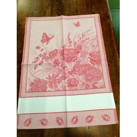 Strofinaccio farfalle e coccinelle rosso