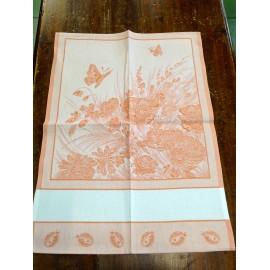 Strofinaccio coccinelle e farfalle arancione