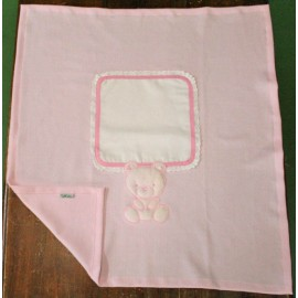 Cover for cot - col. Pink with teddy bear
