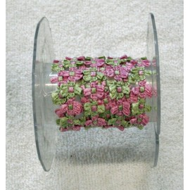 Trimmings h 1.5 cm pink and green