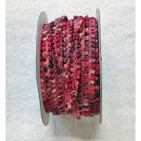 Braid h 1 cm pink and multicolor
