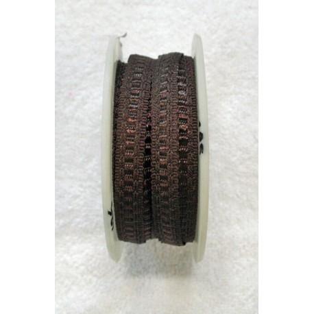 Braid h 1 cm brown