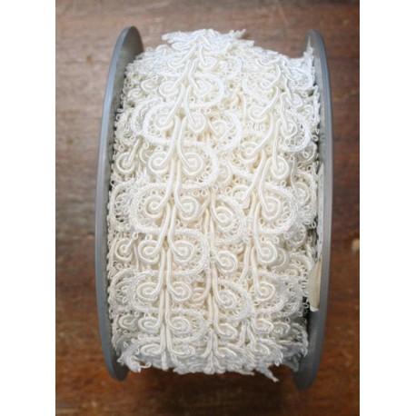 Passamaneria h 2.20 cm, bianco perlato