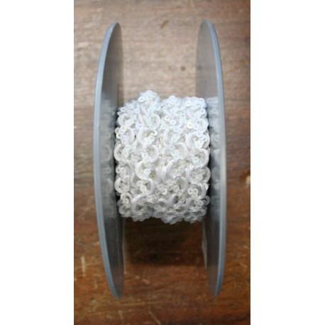 Trimmings h 0.70 cm, white