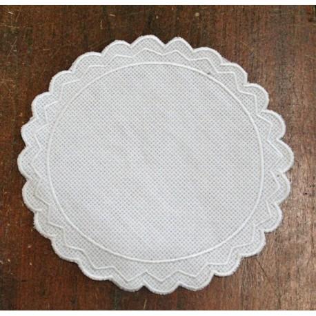 Oval 2-in-Aida fabric - col. White