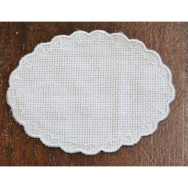 Oval 2-in-Aida fabric - col. White