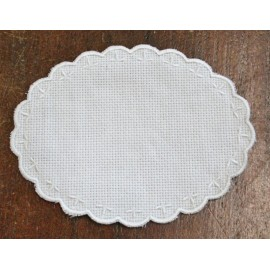 Oval 3-in-Aida fabric - col. White