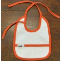 Bavaglina neonato col. Bianca ed arancione