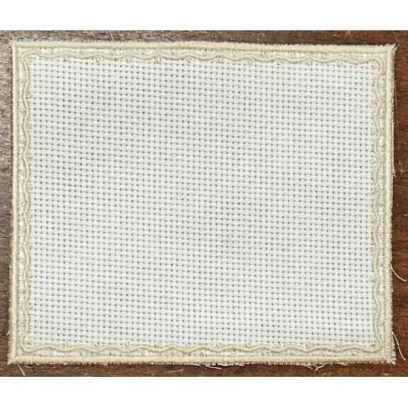 Rectangle 2-in-Aida fabric - col. White contours in ecru