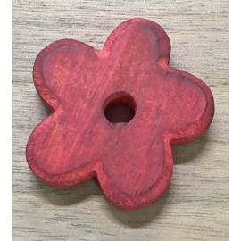 Wood Base in the shape of a flower with the. Cherry