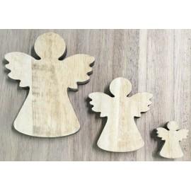 Base di legno a forma di mix di angeli