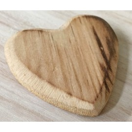 Wood Base in the shape of a heart with. Wood